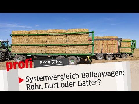 Systemvergleich Ballenwagen: Rohr, Gurt oder Gatter? | profi #Praxistest