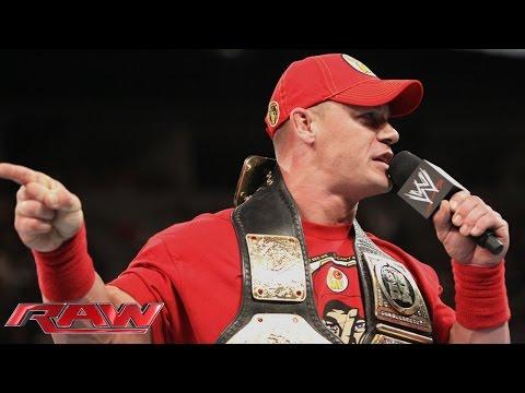 John Cena calls out Brock Lesnar: Raw, Aug. 11, 2014