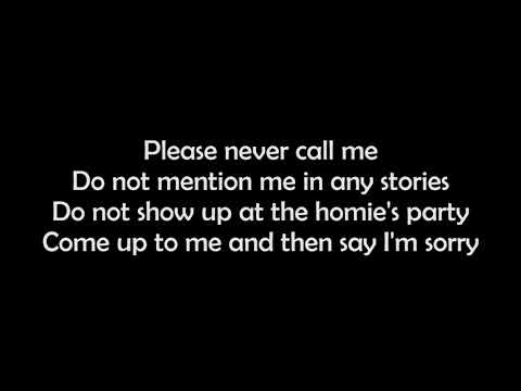 Machine Gun Kelly - The Break Up ( Lyrics)