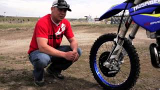 9. David McClure 150 2013 Husaberg TE300 race bike