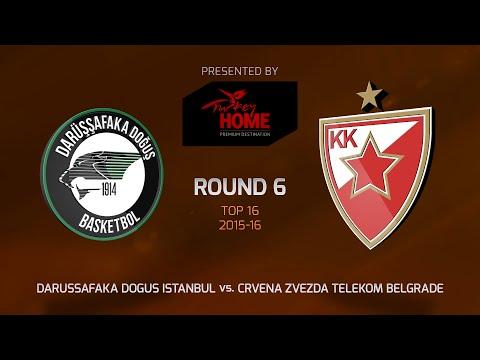 Highlights: Top 16, Round 6, Darussafaka Dogus Istanbul 69-66 Crvena Zvezda