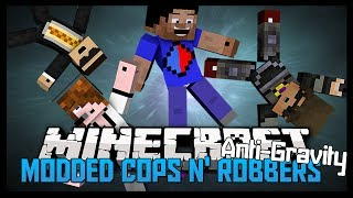 Minecraft MODDED Cops&Robbers #5 'ANTIGRAVITY!' with SkyDoesMinecraft, Deadlox, Bodil40&Ghost