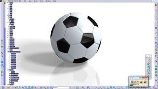 Catia V5 Generative Shape Design Rebuild a Soccer Ball Complete