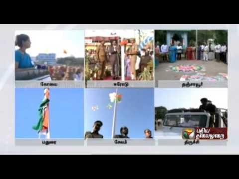 66th republic day celebrations across tamilnadu