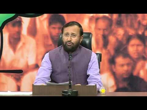 It seems that Congress is running from the truth- Shri Prakash Javadekar on National Herald Scam