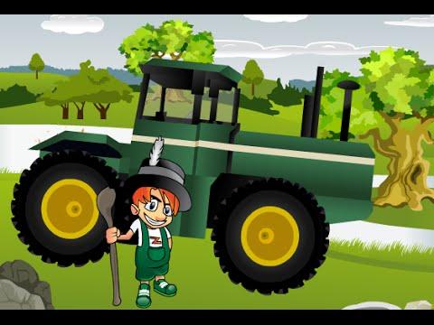 Tractor Cartoon, Funny Cartoons for Children
