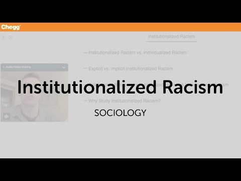 Definition Of Institutional Racism Chegg
