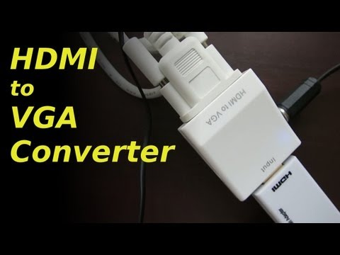 Adapter Konverter - Demonstration of my HDMI to VGA (with audio) adapter. Thank you for numerous comments, especially those reminding me to connect the power. Honestly, I can't ...
