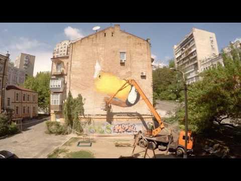 """Freedom"" by Alex Maksiov for Art United Us in Kiev, Ukraine"