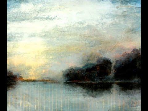 Acrylmalerei Lasuren – Landschaft im Nebel