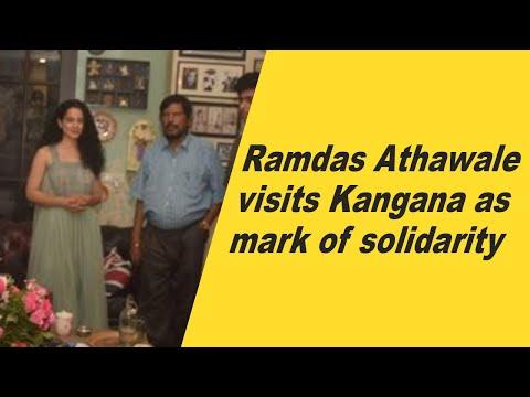 Ramdas Athawale visits Kangana as mark of solidarity