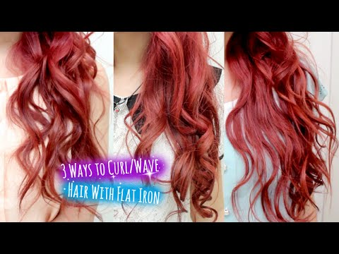 3 Ways to Curl Hair With Flat Iron Straightener l Curly Wavy Hairstyle for Short Medium Long Hair