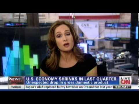 US Economy Shrinks in Last Quarter 2012