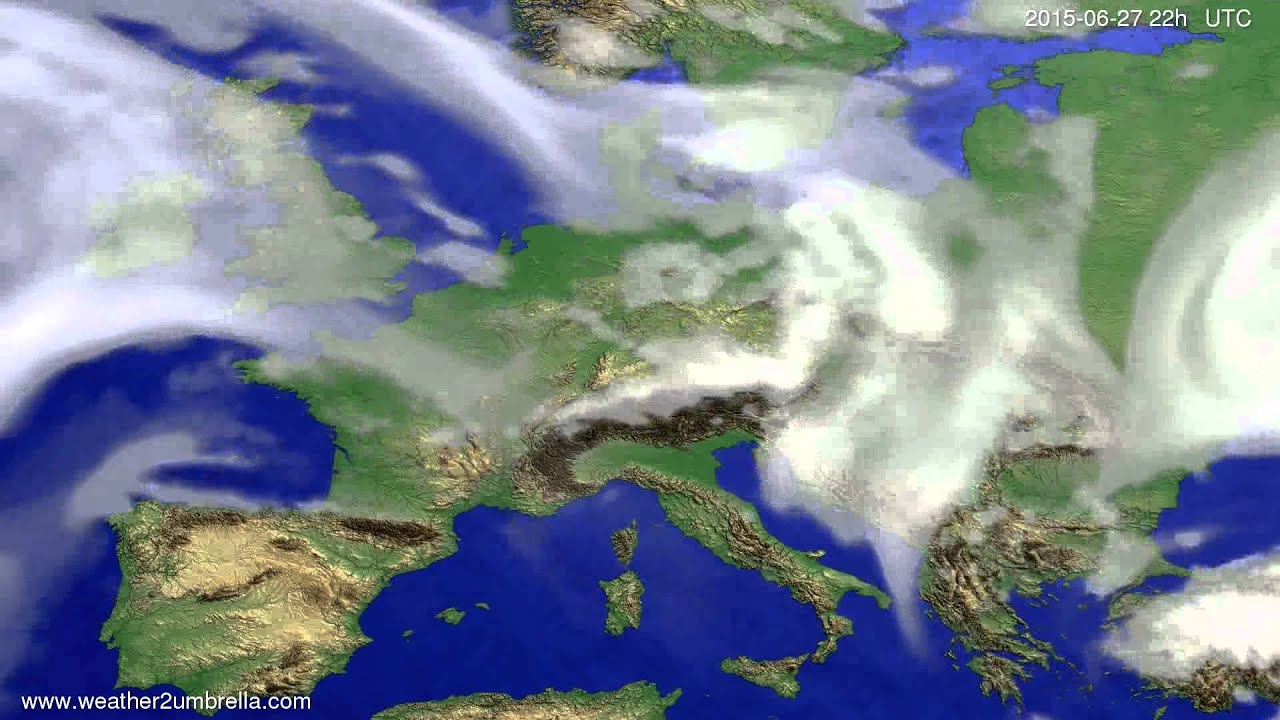 Cloud forecast Europe 2015-06-25