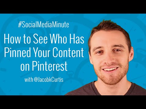 [HD] How to See Who has Pinned Your Website Content on Pinterest - #SocialMediaMinute (видео)