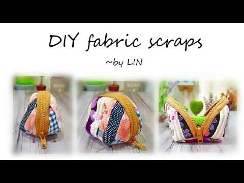 DIY FABRIC SCRAPS ‖ Cute coins purse tutorial #HandyMum
