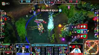 C9 Sneaky Amazing Lucian Quadra Kill - C9 VS SSB - LoL S4 WorldsLeague of Legends LCS HighlightsLike us on Facebook : http://on.fb.me/1k7FA5oFollow us on Twitter : http://bit.ly/1pFYvk4Google+ : http://bit.ly/1rGSdDCIf you want to see more League of legends highlights, Please hit the subscribe button for more entertainment. :)Partner with Freedom! ➜ http://www.freedom.tm/via/LoLLCSHighlights07 - Be free.Get more views!➜ http://www.freedom.tm/grow - Grow with us.Become a network!➜ http://www.freedom.tm/network