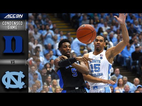 Duke vs. North Carolina Condensed Game | 2018-19 ACC Basketball