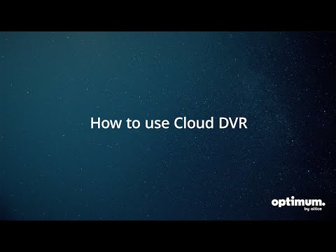 Altice One: How To Use Cloud DVR