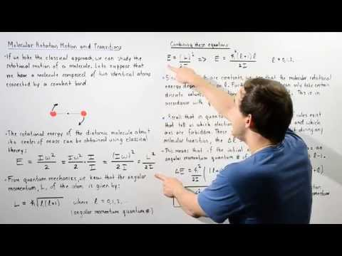 Molecular Rotational Energy and Electron Transitions