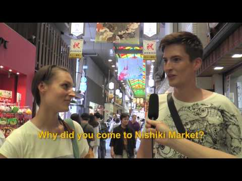 Travelers' Voice of Kyoto: NISHIKI MARKET Area Interview 002