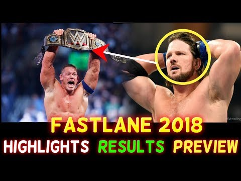 WWE Fastlane 2018 Hindi Highlights Predictions - John Cena vs Undertaker | AJ Styles -Results Winner