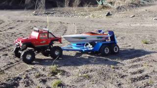 RC CRAWLER, RC BOAT&CUSTOM TRAILER ON EXPEDITION