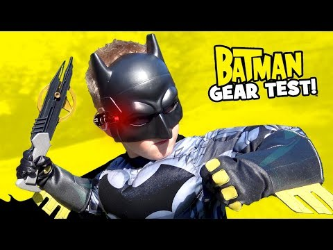 BATMAN Super Hero Gear Test & Spy Gear Toys Review For KIDS! By KIDCITY