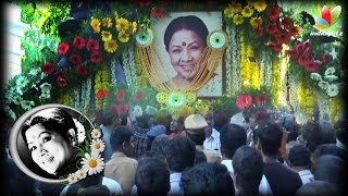 The entire film industry and lakhs of people participate in the final journey of Manorama Kollywood News 12/10/2015 Tamil Cinema Online