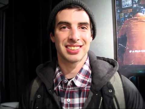 SnowboardSecretsTV - Meet Joe Carlino, of TWS Transworld Snowboarding, flanked by his proud parents Sal and Maria Carlino as we go in to watch his latest snowboard film,