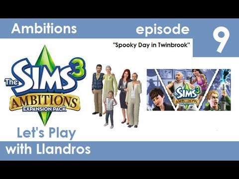 Let's Play The Sims 3 Seasons (Ambitions) - Episode 9 - Spooky Day in Twinbrook