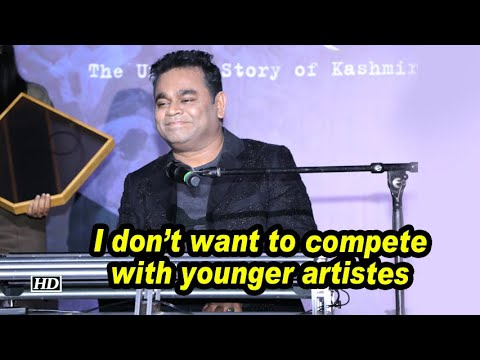 I don't want to compete with younger artistes