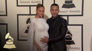 John Legend and Chrissy Teigen | Fashion Cam | 58th GRAMMYs