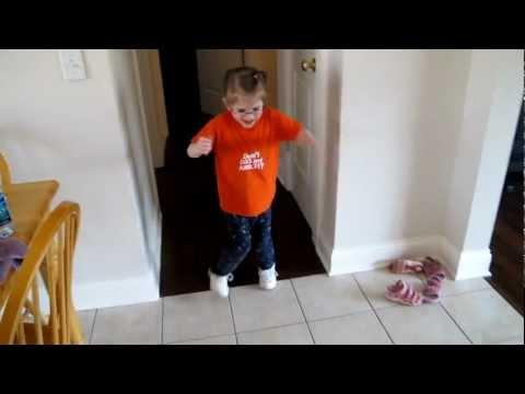 Cerebral Palsy: Nina working on gaining balance while walking