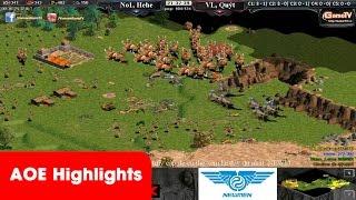 AOE HighLights - Một trận đánh Palmyran lên thẳng Cung A cân đôi Hitte và Macce của No1, game đế chế, clip aoe, chim sẻ đi nắng, aoe 2015