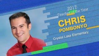 Chris Pombonyo 2017 Teacher of the Year