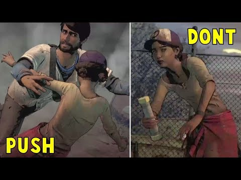 Push and Save Clem VS Do Nothing -All Choices- Walking Dead Definitive Series Season 3