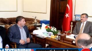 Düzceliler Yardımlaşma Derneği Zeytinburnu Belediye Başkanı Murat Aydın'ı Ziyaret Etti