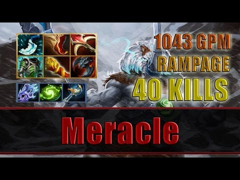 Meracle plays Magnus 40 KILLS RAMPAGE 1043 GPM - Dota 2