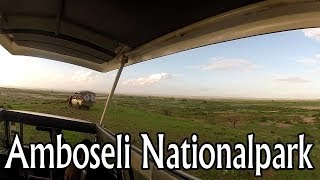Amboseli National Park Kenya  City new picture : Kenya Afrika - Safari through Amboseli National Park, Kilimanjaro [HD]