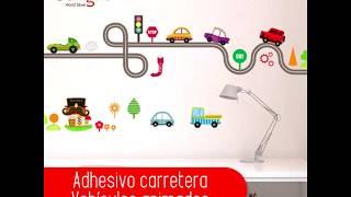 Adhesivo carretera vehículos animados