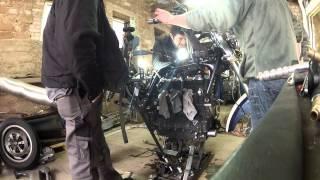 10. Taking the bike off the engine Rocket III