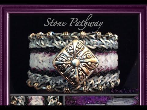 Rainbow Loom Stone Pathway Bracelet Tutorial/How To