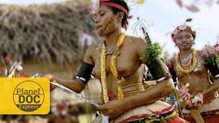 The Tolai women of Papua New Guinea perform courtship dances to men of other clans choose the woman he will marry.