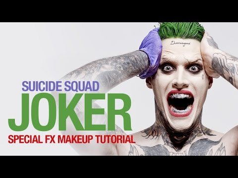 Suicide Squad Joker special fx makeup tutorial