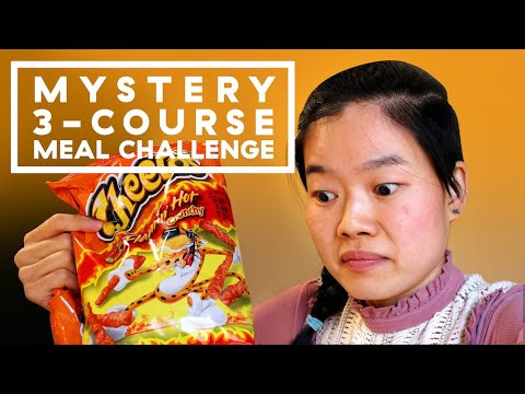 Mystery 3-Course Meal Challenge: Flamin' Hot Cheetos Edition | Delish