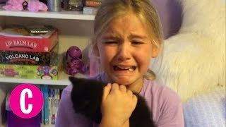 Little Girl is Surprised With a Brand New Kitten   Cosmopolitan