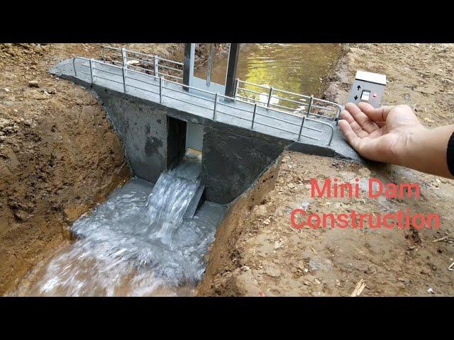 小さいダムを作る