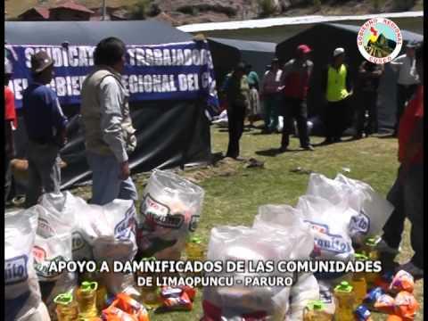 AYUDA A DAMNIFICADOS PARURO