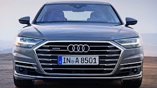 The new 2018 Audi A8 presents the future of the luxury class. In its fourth generation, the brand's flagship model again provides the benchmark for Vorsprung durch Technik – with a new design language, an innovative touchscreen operating concept and a systematically electrified drive. The new Audi A8 is also the first production automobile in the world to have been developed for highly automated driving. From 2018, Audi will gradually be taking piloted driving functions such as parking pilot, garage pilot and traffic jam pilot into production.If you love cars you should subscribe now to YouCar the world famous automotive channel: https://goo.gl/5i54Vg